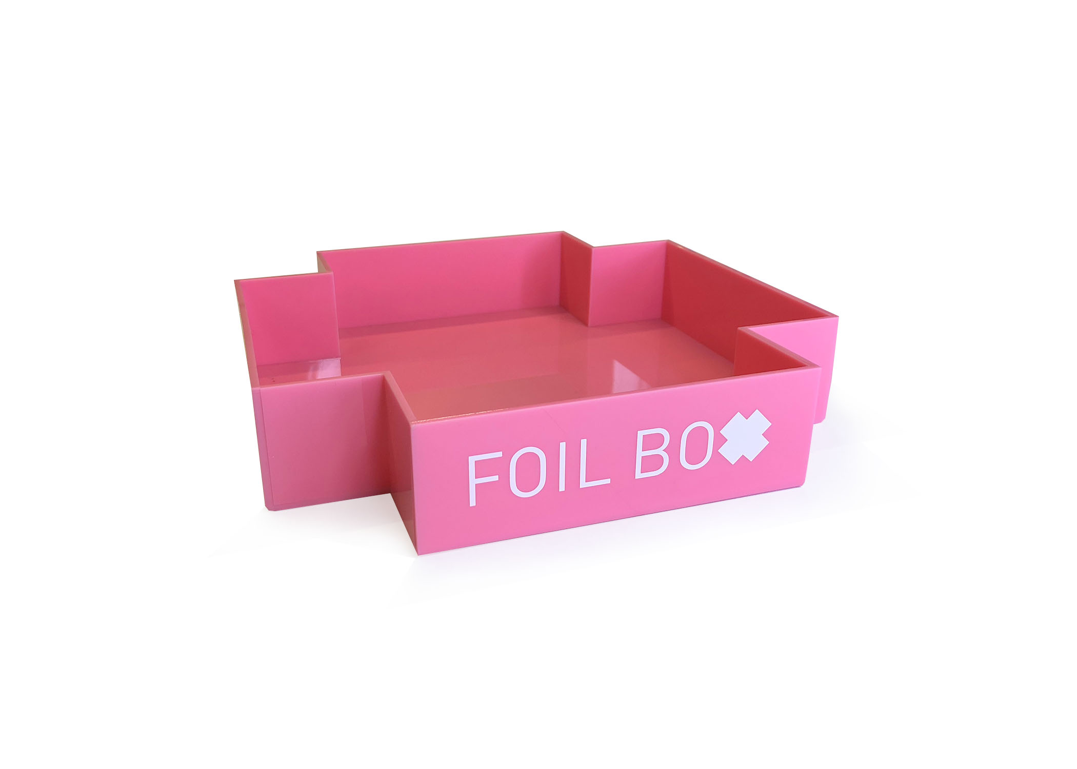 Photo of the pink foilbox by Sara Bryan